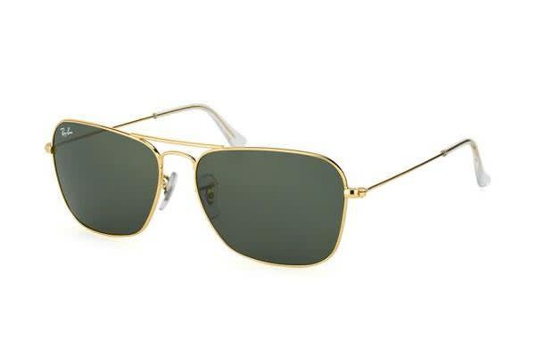 Ray Ban RB3136 - Arista Crystal (Green lens) Mens Sunglasses