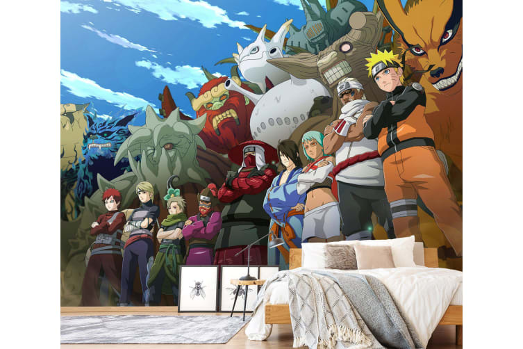3D NARUTO 040 Anime Wall Murals Woven paper (need glue), XL 208cm x 146cm (WxH)(82''x58'')