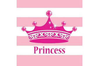 Creative Converting Princess 2 Ply Napkins (Pack Of 16) (Pink/White)