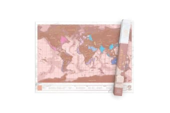 My Travel Scratch Map - Rose Gold Premium Edition (Large)