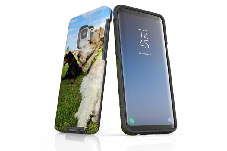 For Samsung Galaxy S9 Case Armour Cover  Dogs at the Park