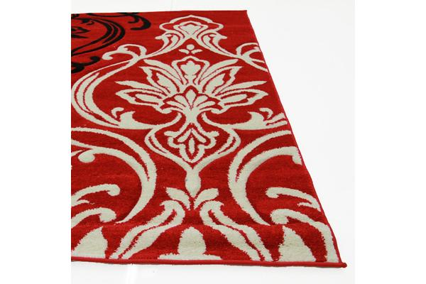 Stunning Thick Patterned Rug Red 290x200cm