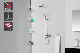Ovela Adjustable Telescopic Bathroom Caddy Rack