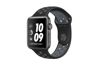 Apple Watch Series 2 (Space Grey, Aluminium, 38mm, Nike Black/Cool Grey)