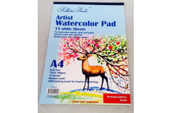 2x Sketch Pad Book Art Watercolour Textured A4 190GSM Drawing Sketching
