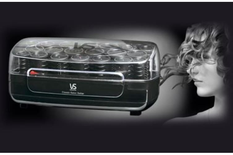 VS Sassoon VS3060A Classic Salon Setter 20 rollers 3 sizes Heated Hot Rollers