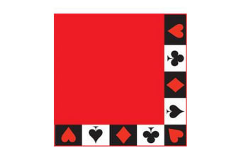 Creative Converting 16 Cards Night Paper Napkins (Red/Black/White)