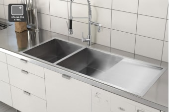 Kromo Vironia 550X Double Bowl Kitchen Sink (Drop-in/Flush/Undermount)