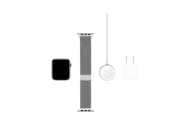 Apple Watch Series 5 (Stainless Steel, 44mm, Stainless Steel Milanese Loop, Cellular)
