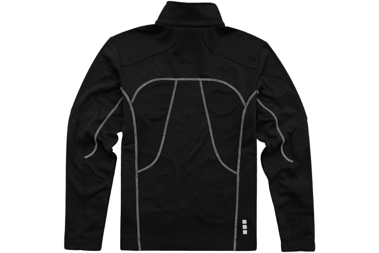 Elevate Mens Maple Knit Jacket (Solid Black) (S)