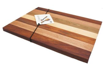 The Big Chop Gordon River Collection Rectangular Chopping Board 40x27x2cm 7 Timbers