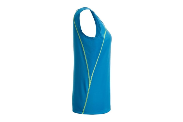 James and Nicholson Womens/Ladies Sports Tank Top (Bright Blue/Bright Yellow) (S)