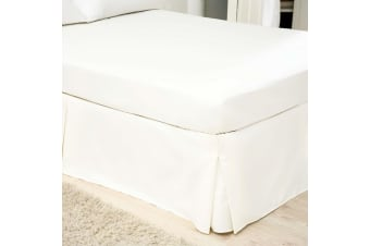 Belledorm 200 Thread Count Egyptian Blend Platform Valance (White)