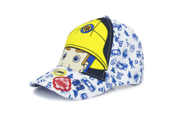 Fireman Sam Childrens/Kids Eyes And Helmet Baseball Cap (White)