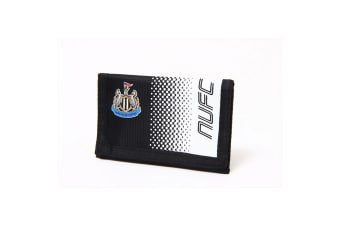 Newcastle United FC Official Fade Touch Fastening Football Crest Wallet (Black/White)