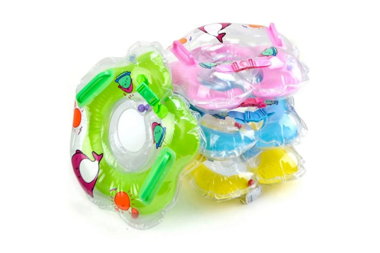 Baby Collar Double Handle With Bell As A Swim Ring Thomas Blue 45*45Cm