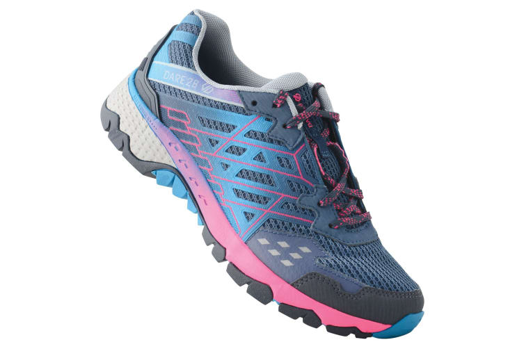 Dare 2B Womens/Ladies Razor II Shock Absorbing Trainers (Meteor Grey/Cyber Pink) (8 UK)