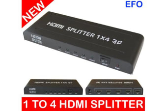 1 To 4 Hdmi Splitter Digital Amplifier Full Hd 1080P 1X4 (1 Input/4 Output) 0104