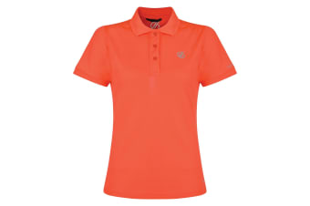 Dare 2B Womens/Ladies Set Forth Polo Shirt (Fiery Coral) (12 UK)