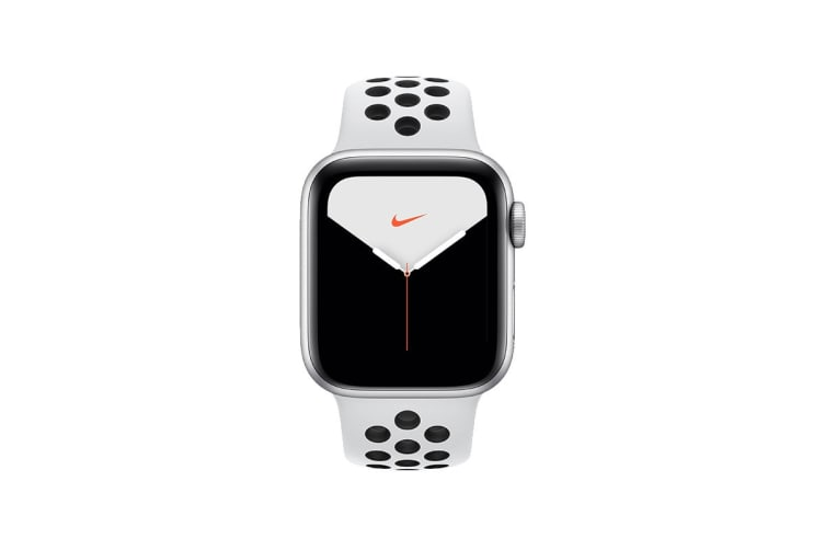 Apple Watch Nike+ Series 5 (Silver Aluminum, 40mm, Pure Platinum/Black Nike Sport Band, GPS Only)