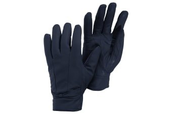 Womens/Ladies Plain Leather Gloves (Navy)
