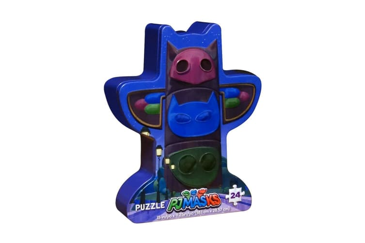 24pc PJ Masks Signature Kids Game Mystery Jigsaw Puzzle Toys 3y+ w/Tin Box