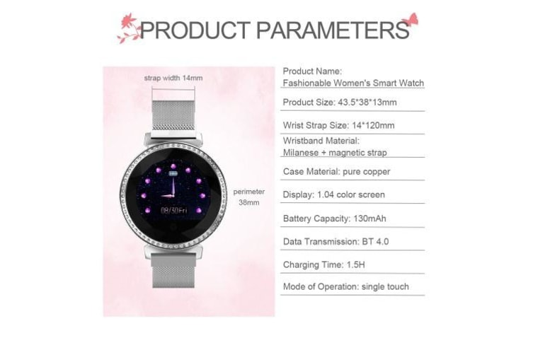 MC11 Women Smart Watch Women Waterproof BT Watch-purple