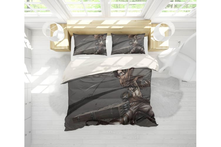 3D Anime Attack Giant Quilt Cover Set Bedding Set Pillowcases 93-Queen