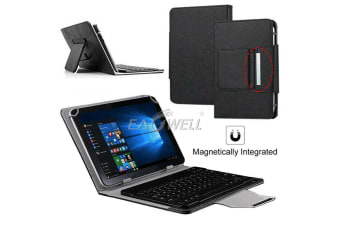 For Samsung Galaxy Tab A 8.0 2018 T387 Tablet Stand Case Bluetooth Keyboard Cover-Black