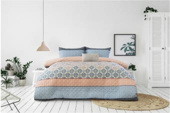 Ardor Boudoir Tribeca Embossed Quilt Cover Set (Queen)