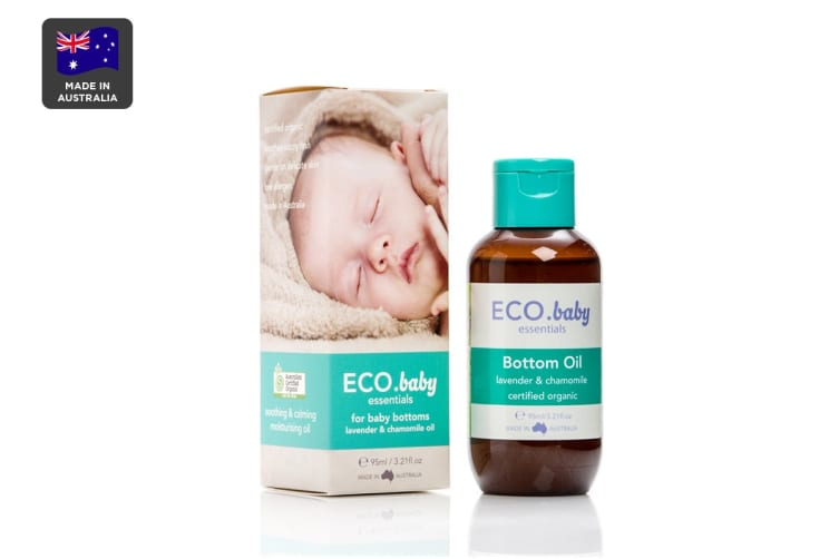 ECO. Baby Essentials Certified Organic Bottom Oil with Lavender & Chamomile (95mL)