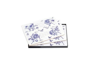 Ogilvies Designs Blue Blooms Placemats Set of 6