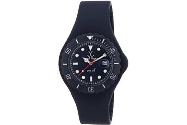 Toy Watch Jelly Black Dial Rubber Strap Unisex Watch JY19DB (JY19DB)