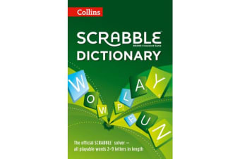 Collins Scrabble Dictionary - The Official Scrabble Solver - All Playable Words 2 - 9 Letters in Length