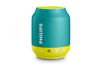 Philips Portable Bluetooth Speaker - Aqua (BT25A)
