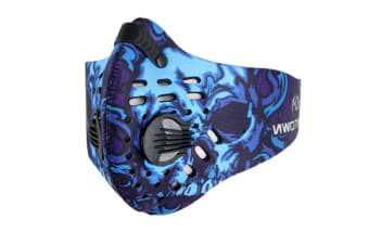 Outdoor Sports Activated Carbon Air Filter Half Face Mask Blue