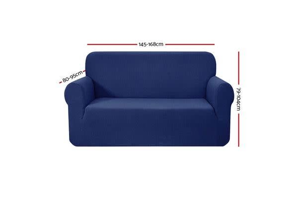 Artiss High Stretch Sofa Cover Couch Lounge Protector Slipcovers 2 Seater Navy
