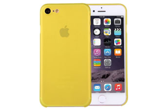 For iPhone 8 7 Case Stylish Ultra-thin Translucent Protective Cover Yellow
