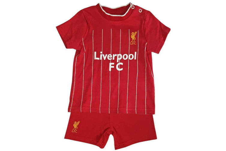 Liverpool FC Baby Unisex Shirt & Short Set (Red) (12-18 Months)