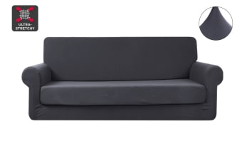 Ovela 3 Seater Sofa Cover Stretch (Charcoal)