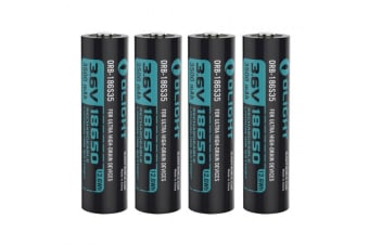 Olight Orb-186s35 Hdc 18650 3500mah Protected High-drain Batteries 4 Pack