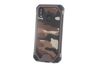 3-In-1 Protective Cover For Camouflage Mobile Phone Case For Huawei Brown Huawei P10 Lite