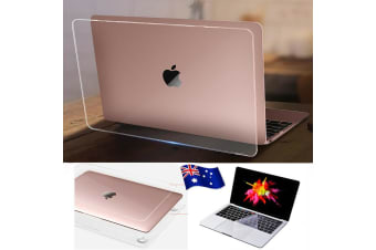 """Marble Frosted Matte Hard Case with Free Keyboard Cover for MacBook Pro 13"""" 2016-2018 A1706 A1989 (With Touch Bar)-Transparent Clear"""