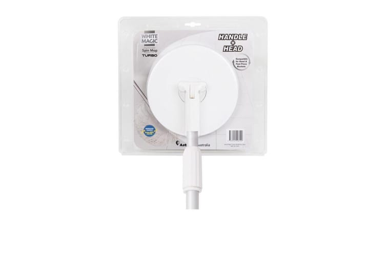 White Magic Spin Mop Turbo Handle Plus Head