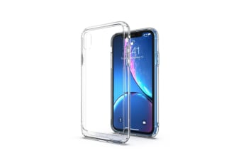 MAXSHIELD Heavy Duty Shockproof Slim Cover for iPhone XR-Clear