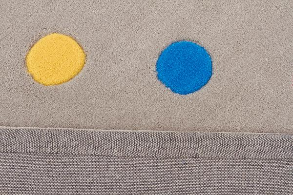 Kids Dots Design Rug Grey 165x115cm