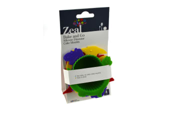 Zeal Silicone Dinosaur Muffin Moulds - Set Of 4