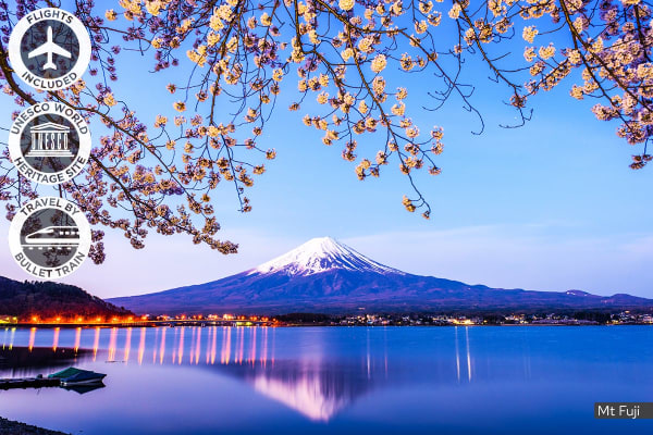 JAPAN: 8 Day Golden Route Tour Including Flights For Two
