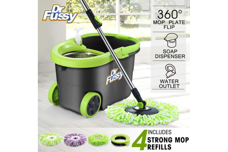 DR FUSSY Mop & Bucket Cleaning Set included four replacements