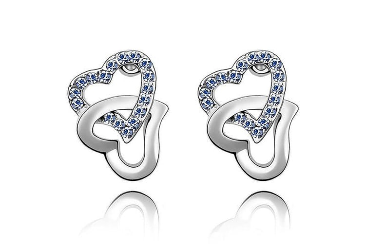 Hearts Entwined Studs Embellished with Swarovski crystals